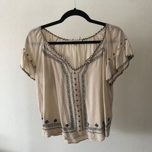 Urban Outfitters Chandi & Lia Embroidered Blouse